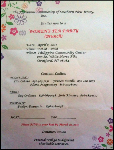 Women's Tea Party